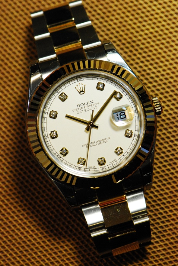 GML41 - Rolex Datejust II Diamond Dial Ref 116333 - 1